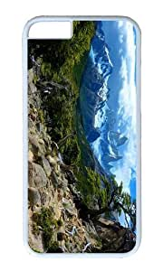 MOKSHOP Adorable incredible landscape Hard Case Protective Shell Cell Phone Cover For Apple Iphone 6 Plus (5.5 Inch) - PC White