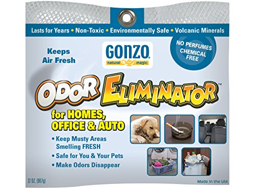 Gonzo Odor Eliminating Rocks - 32 oz - 907 Grams - Pet Cigarette Smoke Paint Garbage Odor Eliminator For Car Home Gym Bag Basement Locker ()