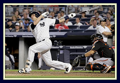 Gary Sanchez Rookie Sensation Hits Home Run At Yankee Stadium 11x14 Double Matted 8x12 Photo NY Rookie of the - Photo Home Run Hit
