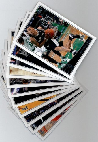 2009 10 Topps Basketball San Antonio Spurs Complete Team Set of 11 (George Hill San Antonio Spurs)