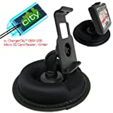 Magellan Maestro 3200 3210 3225 3250 4200 4215 4225 4245 4250 4350 4370 GPS Portable Dashboard Friction Mount Kit by ChargerCity w/ Micro SD USB Card Reader, Bracket Cradle and Beanbag Dash Mount, Best Gadgets