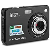 "#LightningDeal AbergBest 21 Mega Pixels 2.7"" LCD Rechargeable HD Digital Camera Video Camera Digital Students Cameras,Indoor Outdoor for Adult/Seniors/Kid"