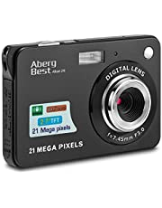 "AbergBest 21 Mega Pixels 2.7"" LCD Rechargeable HD Digital Camera Video Camera Digital Students Cameras,Indoor Outdoor for Adult/Seniors/Kid (Black)"