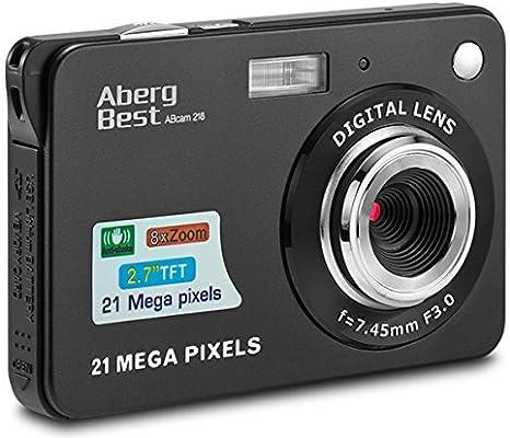 Compactas Cámaras Digitales AbergBest 2.7 LCD Recargable HD Cámara ...