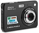 AbergBest 21 Mega Pixels 2.7'' LCD Rechargeable HD Digital Camera,Video camera Digital Students cameras,Indoor Outdoor for Adult/Seniors/Kids (Black)
