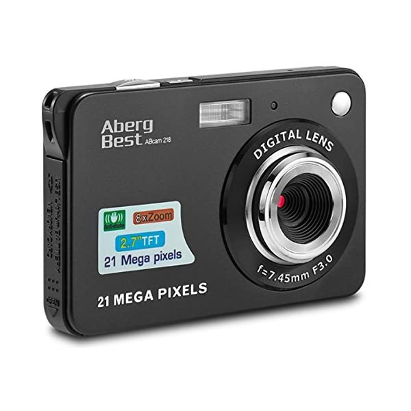 AbergBest 21 Mega Pixels 2.7″ LCD Rechargeable HD Digital Camera Video Camera Digital Students Cameras,Indoor Outdoor for Adult/Seniors/Kid
