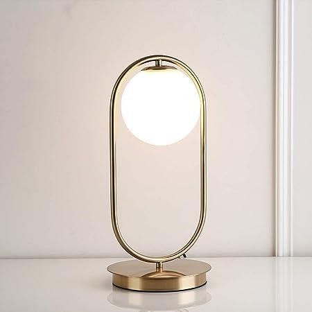 LQRYJDZ Arte moderno de hierro Lámparas de mesa, pantalla de ...