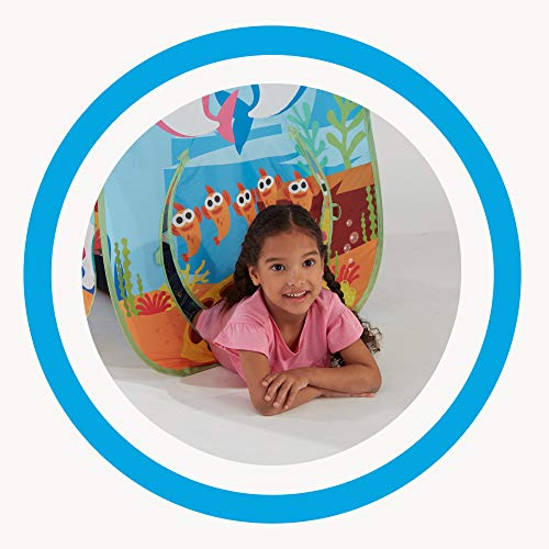 51NBN%2BEmR5L - Playhut Pinkfong Baby Shark Explore 4 Fun Pop-Up Play Tent Preschool Gift for Kids - Amazon Exclusive