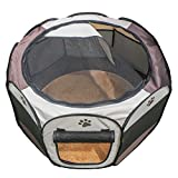 Lalawow Pet Playpen Foldable Kennel Tent with