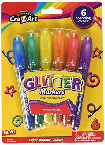 Cra-Z-Art Glitter Markers, 6 Count (10050)