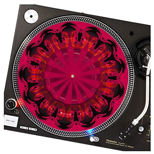 Nouveau Candy Stripes - GLOW Series DJ Turntable Slipmat (glows under black light)