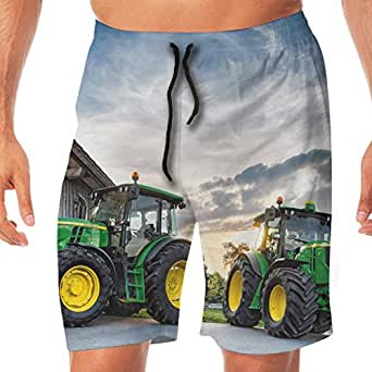 Farm Tractor Quick Dry Elastic Lace Boardshorts Beach