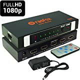 Rasfox FS501 Powered 5-Port HDMI Switch Switcher Selector Splitter with IR Remote; 1080P Full HD 3D; 5 In 1 Out; Connect 5 HD devices to 1 HDTV (FullHD 1080P -FS501)