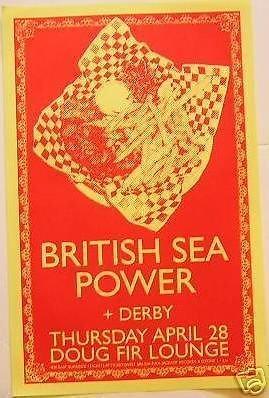 British Sea Power Derby Doug Fir Lounge Portland Concert Tour Poster (Lounge Derby)
