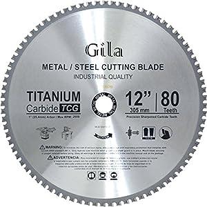 GilaTools 12-inch 80 Teeth TCG Metal Cutting Carbide Saw Blade