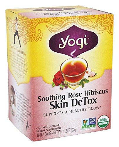 Yogi Tea - Organic - Soothing Rose Hibiscus Skin Detox - Case of 6-16 Bag