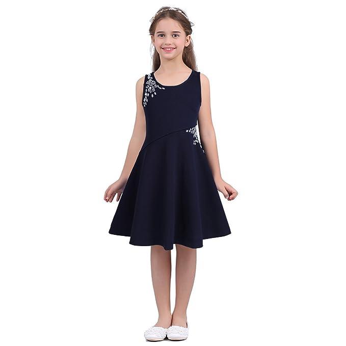 iEFiEL Vestido Ceremonio Niña de Princesa Vestidos de Fiesta Comunion Boda para Niñas 3-14
