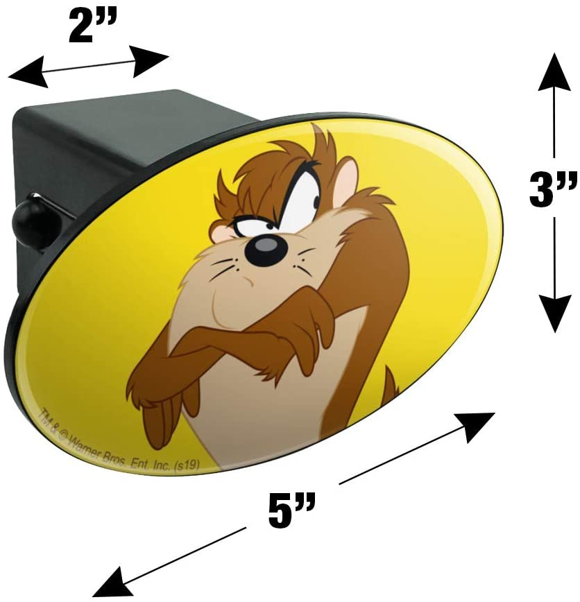 Graphics and More Looney Tunes Taz Oval Tow Trailer Hitch Cover Plug Insert