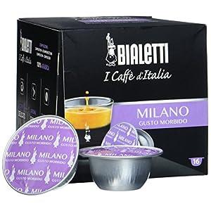 Bialetti 96080090/M Espresso Capsule Milano, Alluminio - 16 Pezzi