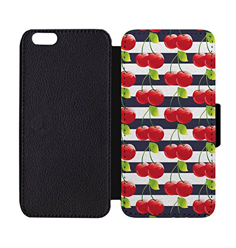 new arrival 5c019 6014d Amazon.com: Wallet Phone Case Cherry Print for iPhone X: Cell Phones ...
