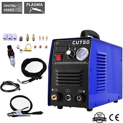 Air Inverter Plasma Cutting Machine - Tosense CUT50 Dual Voltage 50A Plasma Cutter  (110/220V)