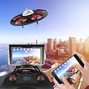 UDI VOYAGER U845 Drone for Kids with Camera Headless Mode Remote & Smartphone Control Modes with Extra Battery by UDI RC