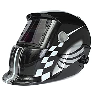 Pista de carreras de oscurecimiento automático casco de soldadura Solar máscara de soldador: Amazon.es: Electrónica
