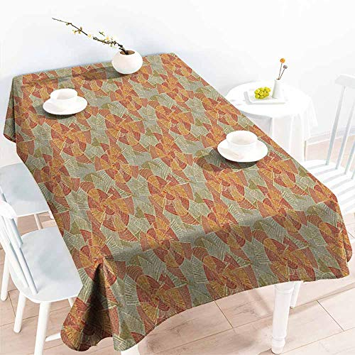 familytaste Pinwheel,Table Cover for Kitchen Earth Tones Inspired Artistic Abstract Motifs in Striped Circular Vintage Shapes 70