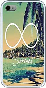 Summer Beach, Infinity Iphone 4 Cases, Iphone 4s Cases- White Sides