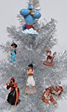 Disney ALADDIN 6 Piece Christmas Ornament Set Featuring Aladdin, Jasmine, Genie, Abu, Rajah, and Jafar with Iago, Ornaments Average 2