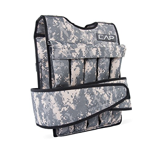 CAP Barbell 40 Lb Cap Adjustable Weighted Vest, Camouflage by CAP Barbell
