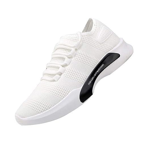 Zapatillas de Running para Hombre Moda Low Top Casuales Aire Libre Zapatos con Cordones Zapatillas de Deporte para Running Fitness Gym Sportive ...