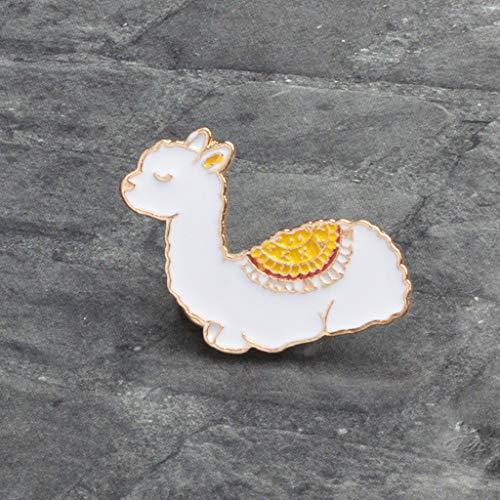 Xeminor Premium Cartoon Llama Enamel Cute Alpaca Styling Badge Brooches Pin for Women Men by Xeminor (Image #4)