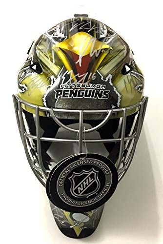 Pittsburgh Penguins 2015-16 Team Autographed Goalie Mask