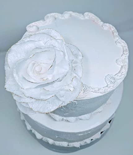Amazon Com Edible Rice Paper Flowers For Cake Topper Large Size