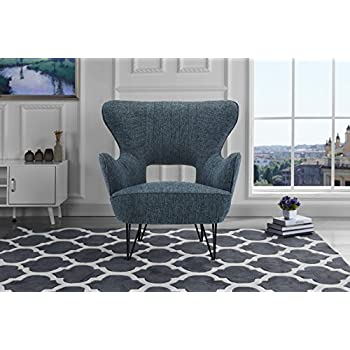 accent living room chair. Mid Century Modern Linen Fabric Accent Armchair with Shelter Style Living  Room Chair Dark Amazon com Large