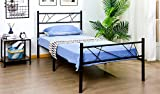 WOHOMO Bed Frame Twin Size, Metal Bed Frame with