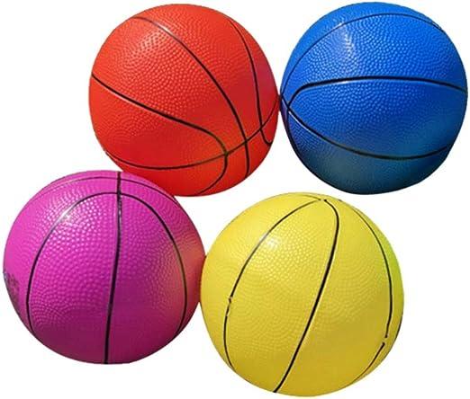 LIOOBO 4 Piezas de Mini Balones Inflables de Baloncesto para Niños ...