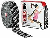 RockTape Uncut BULK Kinesiology Tape For Athletes - 2'' X 105' Roll - Black Logo
