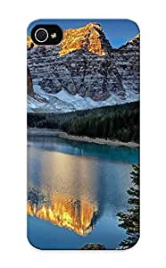 HOjgL0sDQaB Runandjump Awesome Case Cover Compatible With Iphone 5/5s - Mountains Reflection Lakes Shore Trees Sunset Sunrise Landscapes