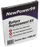 Battery Replacement Kit for Garmin Nuvi 1490LMT with Installation Video, Tools, and Extended Life Battery.