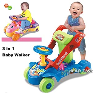 deAO 3 in 1 Baby Walker Blue OR Pink