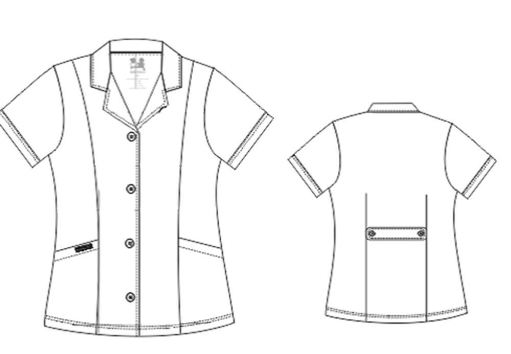 Dagacci Scrubs Medical Uniform Women's Chest Comfortable Short Sleeve Lab Coat (Small) by Dagacci Medical Uniform (Image #4)