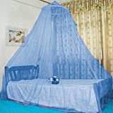 Kicode Round Hoop Mosquito Net Bed Canopy For Kids And Adult (Blue)