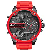 Diesel-Mens-Mr-Daddy-20-Multimovement-Red-Silicone-Wrapped-Stainless-Steel-Watch-DZ7370