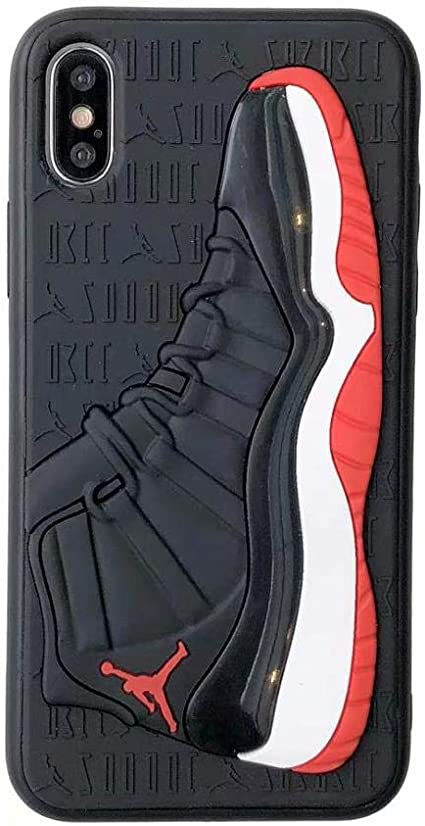 calendario caos inteligencia  Amazon.com: Nike Jordan Bred 11 - Carcasa de goma para iPhone (iPhone Xr),  color negro