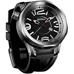 SISU Guardian Q2 Quartz Men's Watch, Black Dial, Rubber Strap (Model GQ2-50-RB) [Watch]