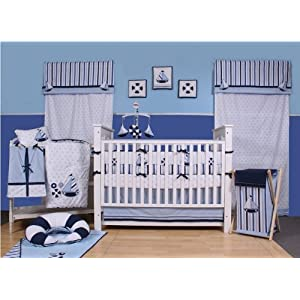 51NBTFkjW3L._SS300_ Nautical Crib Bedding & Beach Crib Bedding Sets