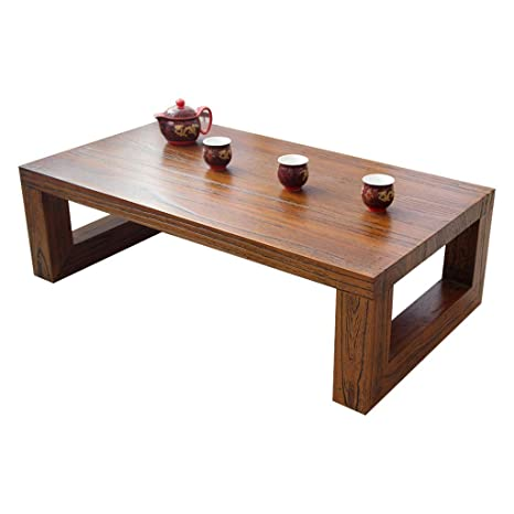 Amazon.com: Mesa de café con ventana, mesa de té, mesa de ...