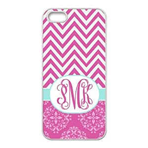 Chevron With Monogram Customize Protective Rubber Back Cover Skin Case Suit For iPhone 5 iPhone 5s